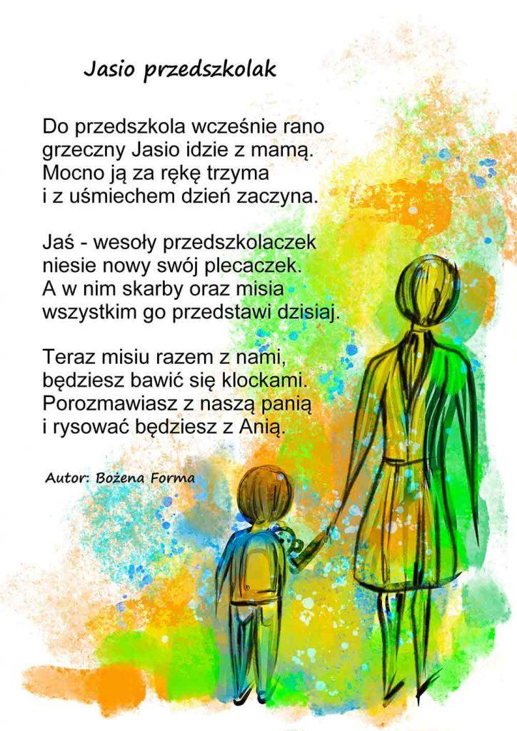 jasio przedszkolak - wierszyk