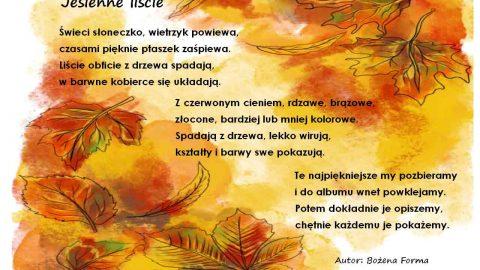 jesienne liście obrazek - wierszyki dla dzieci - abc forma