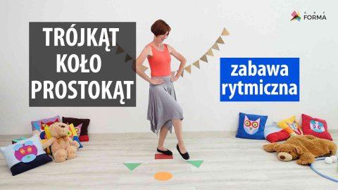trojkąt koło prostokąt - zabawy dla dzieci - abc forma